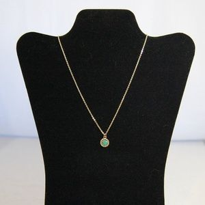 Jewelry - Dainty Green Stone Gold Necklace